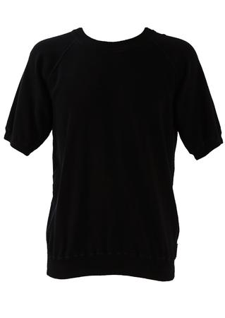 Armani Navy Blue Short Sleeve Sweatshirt - M/L