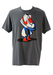 Grey Nike T-Shirt with Graphic Trainer Head Man Print! - L/XL