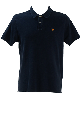 Woolrich Navy Blue Polo Shirt - M/L