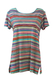 Missoni A-Line T-Shirt with Multicoloured Stripes - M/L