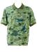 Avirex Green & Blue Polo Shirt with Fighter Plane & Hawaiian Print Design - L/XL
