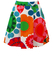 Mini Skirt with Vintage 60's Multicoloured Bold Floral Print - XS/S