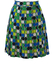 Pleat Mini Skirt with Large Polka Dot & Checkerboard Design - S/M