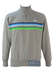 Kappa Zip Front Grey Sweatshirt with Blue & Green Stripes - M