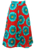 Vintage 70's Psychedelic Sunflower & Eyeball Midi Length Flared Skirt - S/M