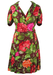 Vintage 60's Silk Two Piece Sleeveless Midi Dress & Jacket with Bold Floral Print - L