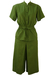 Pierre Cardin Khaki Green Safari Style Short Sleeve Jacket & Culottes Two Piece - S