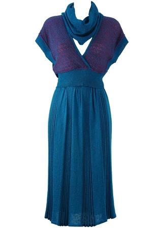 Vintage 80's Blue & Fuchsia Three Piece - XS/S