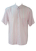 Short Sleeve White Shirt with Pastel Pink & Fine Grey Striped Pattern - L/XL