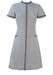 Vintage 60's White & Navy Short Sleeved Striped Tunic Dress - S