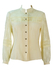 Victorian Style Cream Blouse with Intricate Lace Detail - M