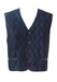 Vintage 90's Blue & Purple Tonic Tone Waistcoat with Abstract Pattern - L