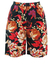 High Waist Black Shorts with Floral Pattern - S