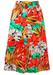 Multicolour Tropical Floral Print Midi A-Line Skirt - M/L