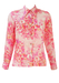 Vintage 60's Blouse with Vibrant Pink Floral Print - M