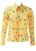 Vintage 70's Cream Blouse with Multicoloured Pears & Floral Pattern - XS/S