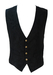 Black Paisley Print Waistcoat with Decorative Silver Buttons - M