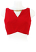 Red Sleeveless Crop Top with Decorative Gold Chains - S