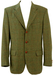 Rodrigo Green Tweed Pure Wool Check Blazer with Suede Elbow Patches - L/XL