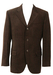 Dark Brown Two Tone Blazer with Velvet Texture & 3 Buttons - M/L