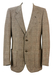 Brown and Cream Pure Wool Prince of Wales Check Blazer Jacket - M