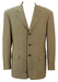 Pure Wool Camel & Brown Herringbone Tweed 3 Button Blazer Jacket - M