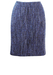 Gianfranco Ferre Blue, Purple & Grey Textured Tweed Pencil Skirt - M