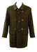 Olive Green Loden Wool Duffle Coat with Leather Toggles - L/XL