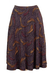 A-Line Purple & Grey Paisely Print Skirt - M