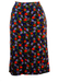 Vintage 60's Jersey Midi Skirt with Psychedelic Fruit Themed Pattern - M/L