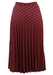 Pleated Midi Skirt in Fuchsia and Purple Check - S