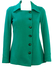 Vintage 60's Turquoise Green Side Buttoning Jersey Jacket - S