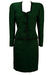 Guy Laroche Green & Black Patterned Textured Two Piece Jacket & Skirt Set - M