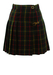 Pleated Green & Navy Tartan Mini Skirt  - XS/S