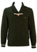 Fred Perry Two Tone Green Speckled Wool Jumper with Toggle Clasp - M