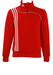 Adidas Red and White Half Zip Track Top - S