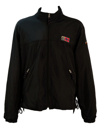 Napapijiri Geographic Black Windcheater Shelter Jacket - L/XL