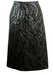 Vintage 60's Black, Metallic Silver & Blue Patterned Evening Pencil Skirt - L