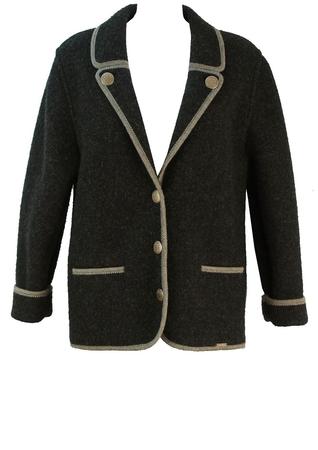 Tyrolean Charcoal Grey Wool Jacket - M/L