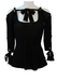 Roberto Cavalli Black Off-the-Shoulder Tie Front Fitted Top - XS/S