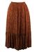 Pleat Detail Russet Paisley Print Skirt - S