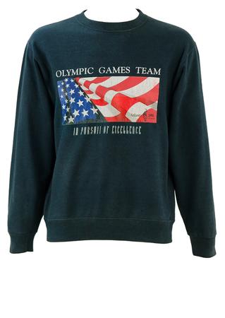 Vintage Champion 1996 Atlanta Olympic Games Blue Sweatshirt - S/M