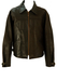 Brown Leather Jacket with Cuff & Side Buckle Detail - XL