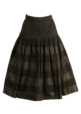 Gerry Weber Black & Grey Stripe Midi Party Skirt - M