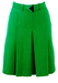 Vintage 60's Bright Green Pleated Mini Skirt with Decorative Belt - XS/S
