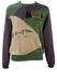 Lacoste Green, Purple & Cream Golfing Themed Jumper - M/L