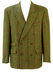 Henry Cotton's Green & Russet Donegal Tweed Double Breasted Jacket -L/ XL