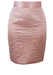 Textured Baby Pink Silky Mini Pencil Skirt - XS/S