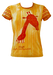 Custo Giraffe Print T-shirt in Yellow, Ochre and Brown - S/M