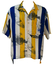 Vintage Bjorn Borg, Rohdi Heinz Short Sleeved Blue, Yellow & White Yachting Themed Shirt - XL/XXL